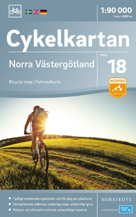 Sweden Cycling Map 18 - Västergotland North